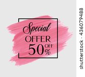 sale special offer 50  off sign ... | Shutterstock .eps vector #436079488