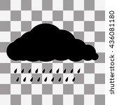 vector black cloud icon on...