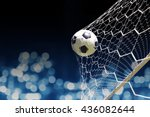 soccer ball in goal | Shutterstock . vector #436082644