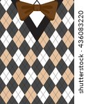 argyle sweater background with... | Shutterstock .eps vector #436083220