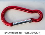 Red Rusted Used Old Karabiner...