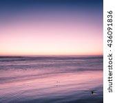 fantastic ocean over beach in... | Shutterstock . vector #436091836