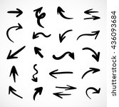 hand drawn arrows  vector set | Shutterstock .eps vector #436093684