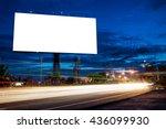 blank billboard for... | Shutterstock . vector #436099930