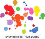 Gouache splashes for grunge design - stock vector