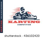 kart racing winner  logo... | Shutterstock .eps vector #436102420
