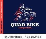 quad bike competition. logo... | Shutterstock .eps vector #436102486