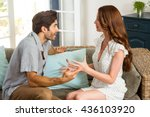 young couple into an argument... | Shutterstock . vector #436103920