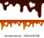 melted chocolate and caramel...   Shutterstock .eps vector #436105258
