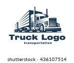 logo illustration of a truck... | Shutterstock .eps vector #436107514