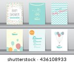 collection of  baby shower... | Shutterstock .eps vector #436108933