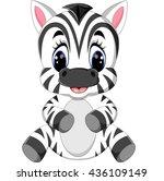 cartoon zebra | Shutterstock .eps vector #436109149
