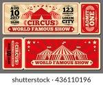 circus magic show entrance... | Shutterstock .eps vector #436110196