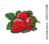 Red Strawberry Vector  ...