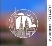 koln vector linear logo. trendy ... | Shutterstock .eps vector #436112764