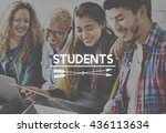 students intern education... | Shutterstock . vector #436113634