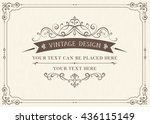 ornate vintage card design with ... | Shutterstock .eps vector #436115149