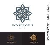 royal lotus symbol icon design. ... | Shutterstock .eps vector #436128634