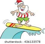 cartoon illustration of santa... | Shutterstock .eps vector #436133578