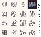 conference icons  management... | Shutterstock .eps vector #436141330