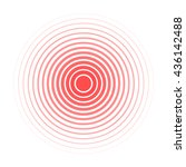 Red Rings Sound Wave And Line...