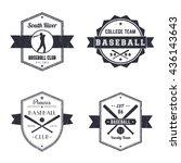 baseball club  team vintage... | Shutterstock .eps vector #436143643