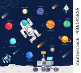 out space   Shutterstock .eps vector #436145839