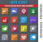 baseball web icons in flat... | Shutterstock .eps vector #436146424