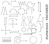 set of arrows vector... | Shutterstock .eps vector #436146820