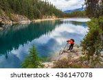 photographer on the horseshoe... | Shutterstock . vector #436147078