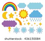 vector set of sky icons... | Shutterstock .eps vector #436150084