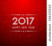 happy new year 2017 with bokeh... | Shutterstock .eps vector #436153510