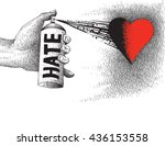 color of hate | Shutterstock .eps vector #436153558