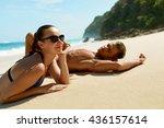 Couple On Beach In Summer....