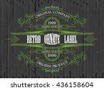 vintage typographic label... | Shutterstock .eps vector #436158604