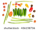 vegetable mix isolated on white ... | Shutterstock . vector #436158736