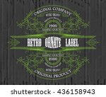 vintage typographic label...   Shutterstock .eps vector #436158943