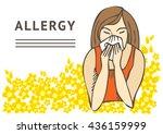 allergies. hay fever on white... | Shutterstock .eps vector #436159999
