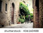Charming Street In Italy With...