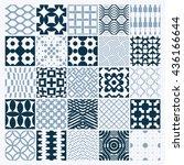 vector ornamental black and... | Shutterstock .eps vector #436166644