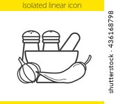 spices linear icon. thin line... | Shutterstock .eps vector #436168798