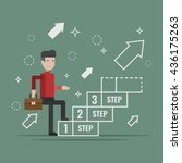 go up concept  career ladder ...   Shutterstock .eps vector #436175263