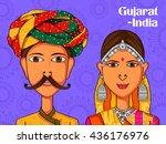 vector design of gujarati...   Shutterstock .eps vector #436176976