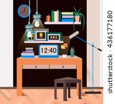 interior  workplace  designer ... | Shutterstock .eps vector #436177180