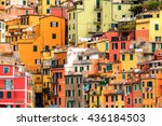 beautiful look of riomaggiore ... | Shutterstock . vector #436184503