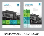 corporate brochure flyer design ... | Shutterstock .eps vector #436185604