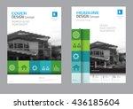 corporate brochure flyer design ... | Shutterstock .eps vector #436185604