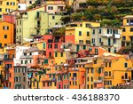 beautiful look of riomaggiore ... | Shutterstock . vector #436188370