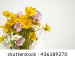 bouquet of wild flowers ...   Shutterstock . vector #436189270