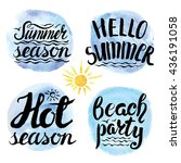 summer calligraphic design... | Shutterstock .eps vector #436191058